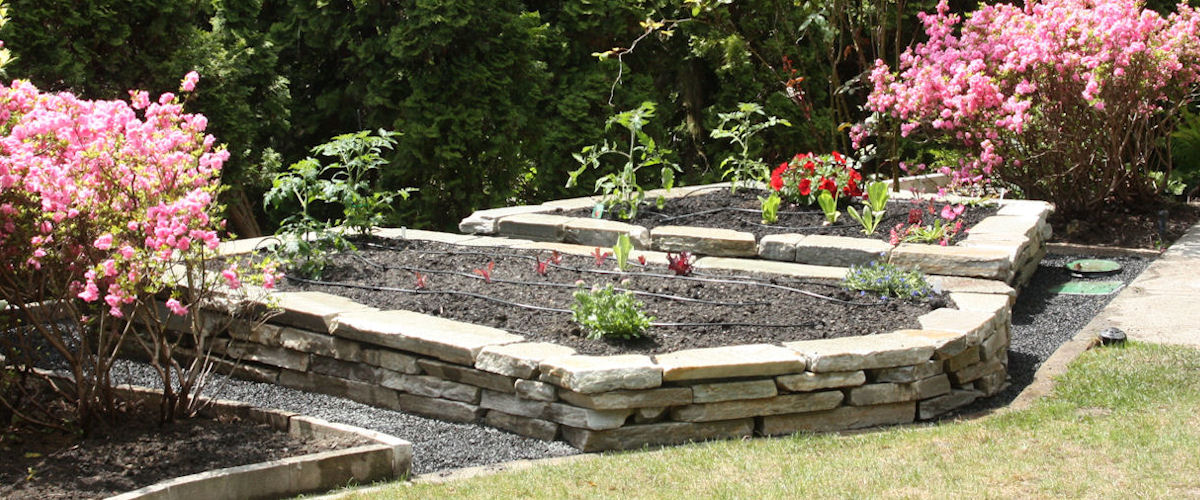 Natural Stone Raised Bed